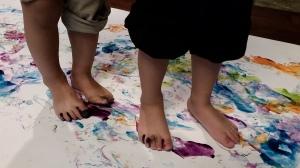 Rainbow feet 1