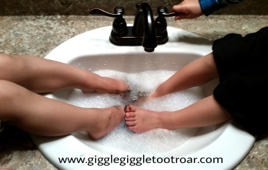 washing feet